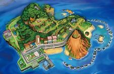 Pokemon Sun and Moon MAP Wall Poster  34 in x 22 in ( Fast Shipping )