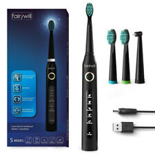 5 Modes Fairywill Sonic Electric Toothbrush Rechargeable Timer Soft Brush Clean