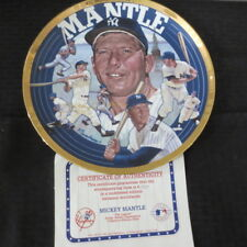 Mickey Mantle Yankees 1995 Sports Impressions  10 in Plate