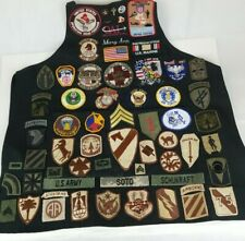 Vintage Mixed Lot Military Pins And Patches Omni Air International Apron UNIQUE