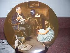 Knowles Norman Rockwell Plate The Storyteller 1983