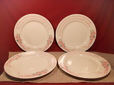 """A New You Worldwide Grace Line Series 103 Set of 4 Dinner Plates 10 5/8"""" Pink"""