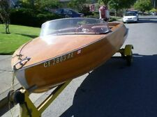 1957 WOOD 14'  CLASSIC BOAT WITH 30 HP MERCURY AND TRAILER ALL ORIGINAL  SHARP!