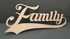 S68 FAMILY HOME Craft Shapes MDF Plaque Sign Laser Cut Wooden Love Heart