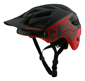 Troy Lee Designs 2021 A1 Classic MTB/Bicycle w/MIPS Helmet - Black / Red