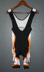 BERGAMO Cycling BIB Shorts TRUMER PILSNER BEER Padded Bibs Suit Italy Mens MD