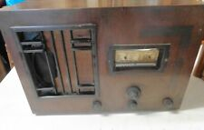 Vintage UnNamed (Cossor?) Tube Radio Wood Case BatteryOperated Parts/Restoration