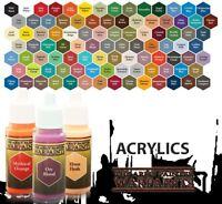 Army Painter Acrylics Warpaints 18ml WPxxxx - Einzeln wählbar Grundfarben Paints
