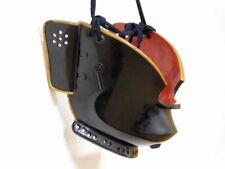 SUPERB Black & Gold Lacquered MENPO Armor Mask Japanese Edo Original Antique