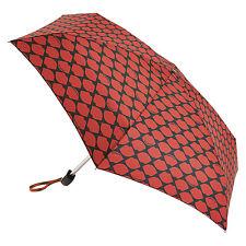 Lulu Guinness por Fulton señoras tiny-2 diseñador Paraguas Labios Red Rojo