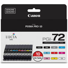 Canon LUCIA PGI-72 10-Color Ink Tank Value Pack for PIXMA PRO-10 #6402B007
