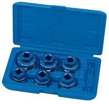 Draper Expert 6 piezas 1.3cm Cuadrado Dr. TAPA FILTRO DE ACEITE Set de vasos