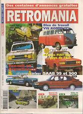 RETROMANIA 124 RENAULT EN ARGENTINE FIAT 124 SAAB 99 SAAB 900 FIAT 127 VW KOMBI