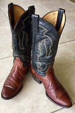 TONY LAMA LIZARD MENS COWBOY BOOTS 9.5 D EXOTIC Made USA