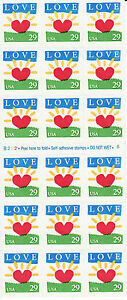 LOVE SUNRISE STAMP BOOKLET -- USA #2813a 29 CENT 18 STAMPS 1994 LOVE