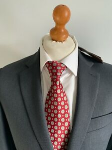 Mens *NEW* LUXURY JAEGER WOOL SUIT In CHARCOAL MICRO CHECK 38L *B.N.W.T*