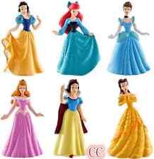 6 PCS CAKE TOPPERS Princess Ariel Cinderella Snow white Figure Toy Girl