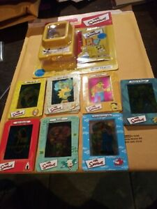 THE SIMPSONS FILM CARDZ SERIES 1 COMPLETE 45 CARD SET AND NEW VIEWER PACK