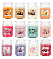 Premium Line 18 oz Large Scented Candle Glass Jar Fragrance Home Gift Xmas 100 h