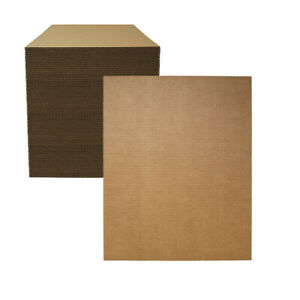 "100 - 16"" x 20"" Corrugated Cardboard Pads/Inserts/Sheets 32 ECT Made in USA"