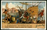 The Boston Tea Party Revolutionary War 1930s Trade Ad Card