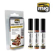 Mig Ammo 7513 Nave de Guerra Marcado Oilbrusher Set Amarillo Bone, Rojo Baldosa,