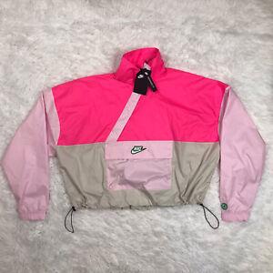 Nike Sportswear Icon Clash Woven Windbreaker Crop Jacket Womens Medium CU5970