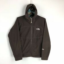 The North Face Windwall Jacket Size Small Brown Fleece Coat Womens S Waffle