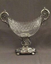 Original Biedermeier Silber_Glas_Bonboniere_Deutsch u. 1830-40