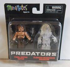 Diamond Select Minimates Predators Final Battle Royce & Cloaked Berserker MOC!!