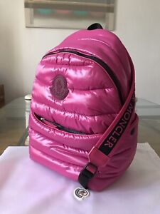 NWT Authentic Moncler Nylon Backpack Bag Pink