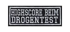 HighScore durante il test antidroga PATCH RICAMATE BADGE Biker Heavy Rocker tonaca Stick