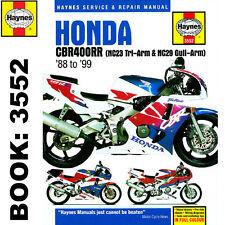 Honda CBR400RR NC23 Tri-Arm NC29 Gull Arm 1990-99 Haynes Workshop Manual