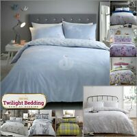 FLANNEL QUILT COVERS | Feather Duvet Cover | 100% Brushed Cotton Bedding Set