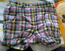 Refb280  girls shorts 18 mth.vertbaudet.check.adjustable waist
