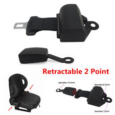 Universal 2 Point Retractable Car Seat Belt Lap Extension Safety Strap Buckle
