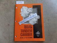 Mack Truck 92/93 & 112/113 Series Tandem Carrier Service Manual OEM