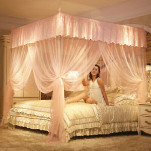 Floor mosquito net with tubes European style netting Anti-mosquito yarn Bed deco