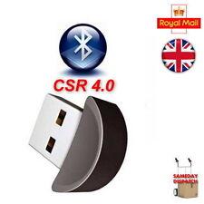 USB 2.0 Bluetooth V 4.0 Dongle Dual Mode Adapter -Windows 7 / 8 Vista A2DP PC