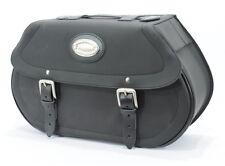 Longride Satteltaschen glatt 46L, Leder, f. Harley - Davidson Softail 07 - heute