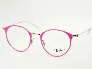 NEW Ray Ban RB1053 4067 TOP FUXIA On SILVER EYEGLASSES GLASSES 1053 43-18-130mm