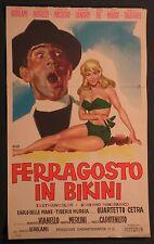 Locandina FERRAGOSTO IN BIKINI 1961 RARA!! VIANELLO, VALORI, MASIERO, CHIARI