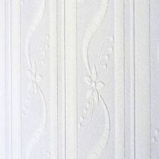 White Blown Vinyl Wallpaper Embossed Textured Patterned Paintable 202512 Design
