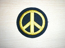 """2 1//2/"""" Dia PEACE RAINBOW CND EMBROIDERED PATCH 6CMDia"""