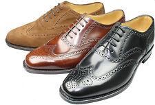Loake rahmengenähte Leder Schuhe 202 & Holzspanner, Budapester, Goodyear Welted!