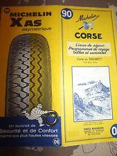 carte michelin 90 Corse 1967