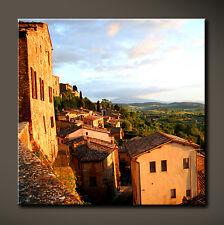 TOSCANA Leinwand Bild Toskana Italien Wein Lounge Deko Wandbild XL Kunstdruck