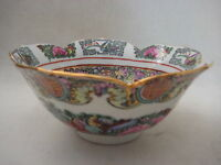 "Vintage A.C.F Japanese Porcelain Ware Hong Kong Hand Painted Bowl, 6"" Dia"