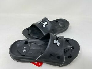 NEW! Under Armour Youth Boy's Locker III Slip On Comfort Slides Black #1287326 z
