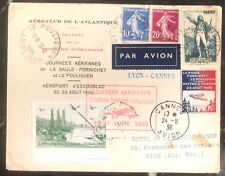 1936 Le Pouliguen France Airmail First Day Cover FDC Aviation Meeting To Nice